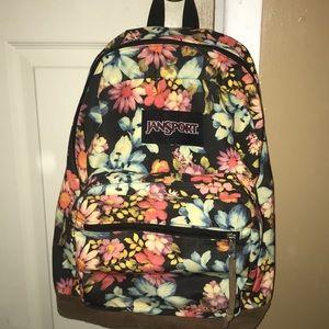 Floral Jansport backpack